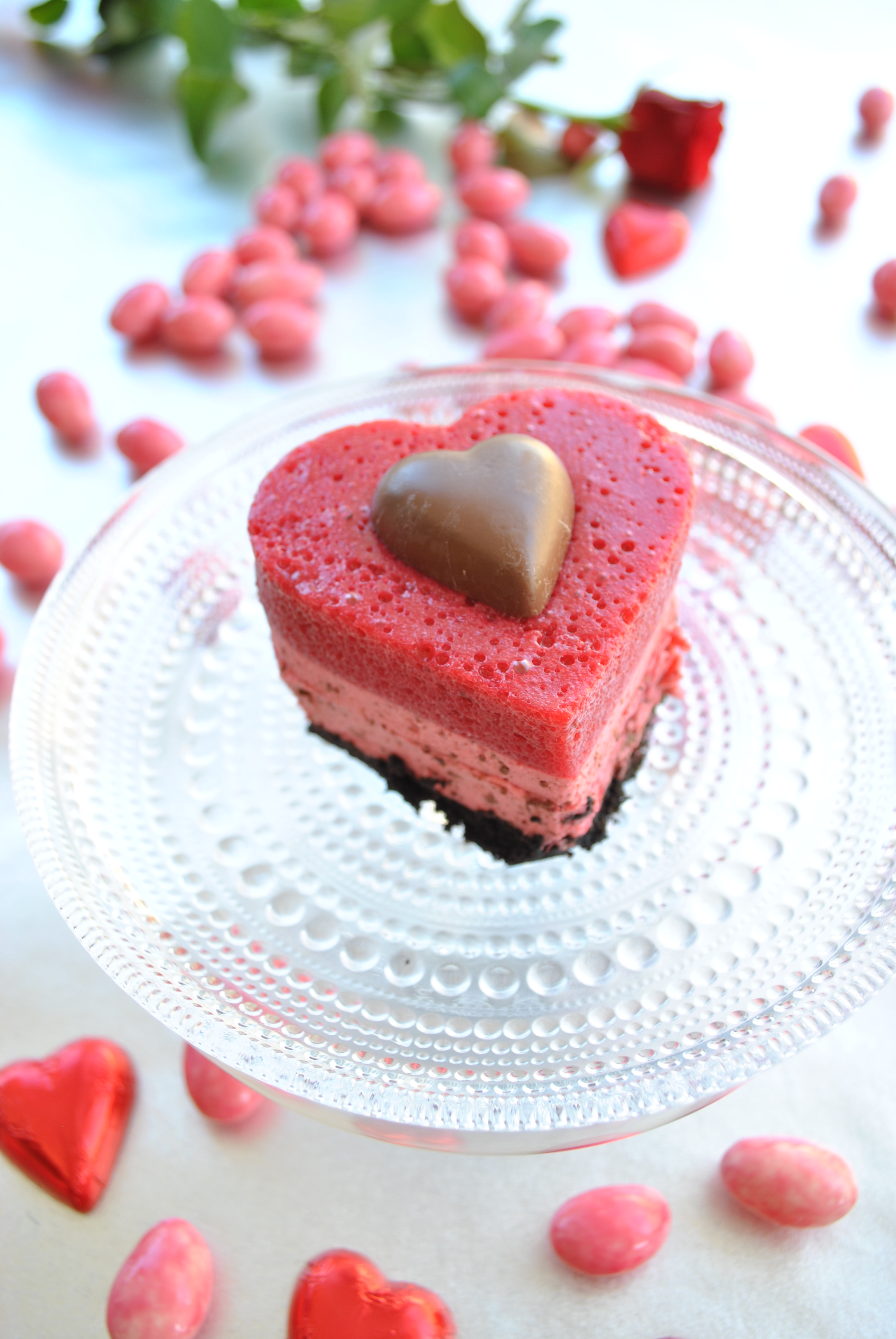 Marianne cheese cake for Valentine