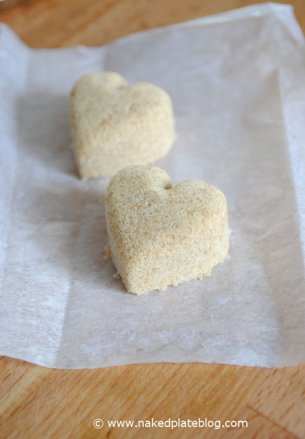Heart shape Polvoron