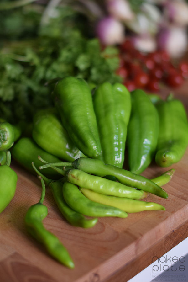 Hot green chili and paprika UAE Farmers produce
