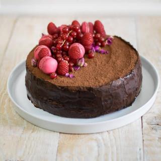 Sprüngli Truffle Cake by Naked Plate
