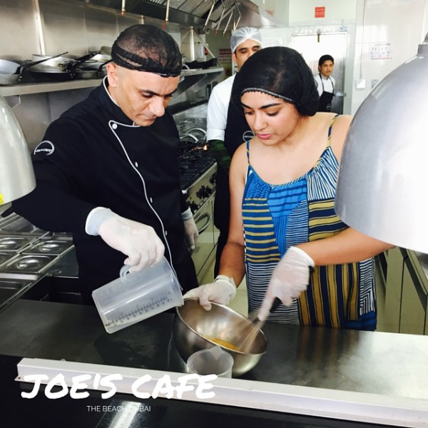 Namrata and Chef Melad of Joe's Cafe Dubai