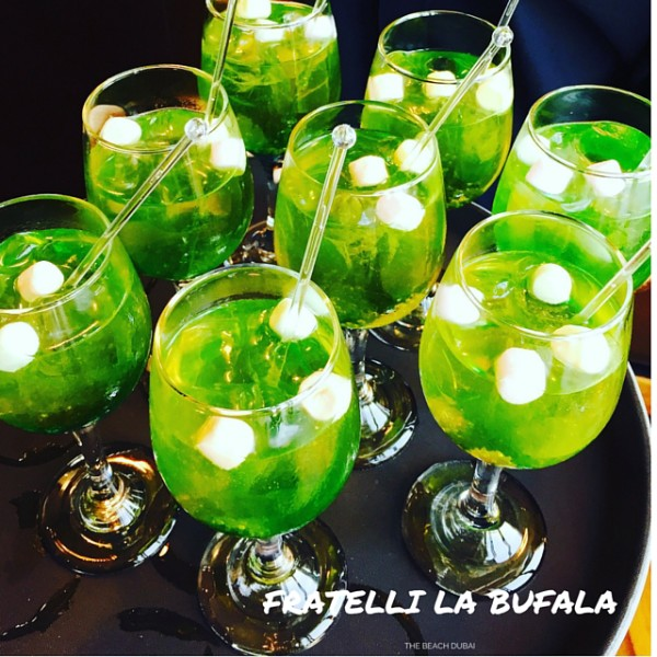 Welcome drinks at Fratelli La Bufala