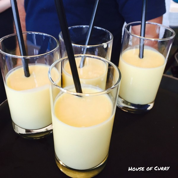 Mango lassi at The House of Curry Dubai Marina