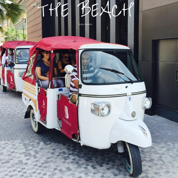 Tuc-tuc ride at The Beach Dubai Marina