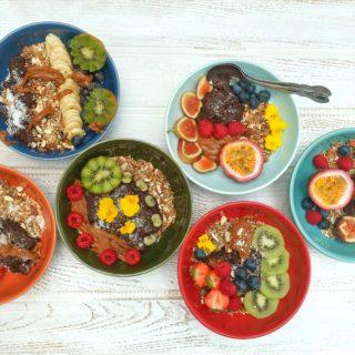 Raw Vegan Chocolate Dessert Bowls