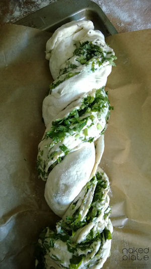 Naked Plate Herb Spelt Twisted Bread