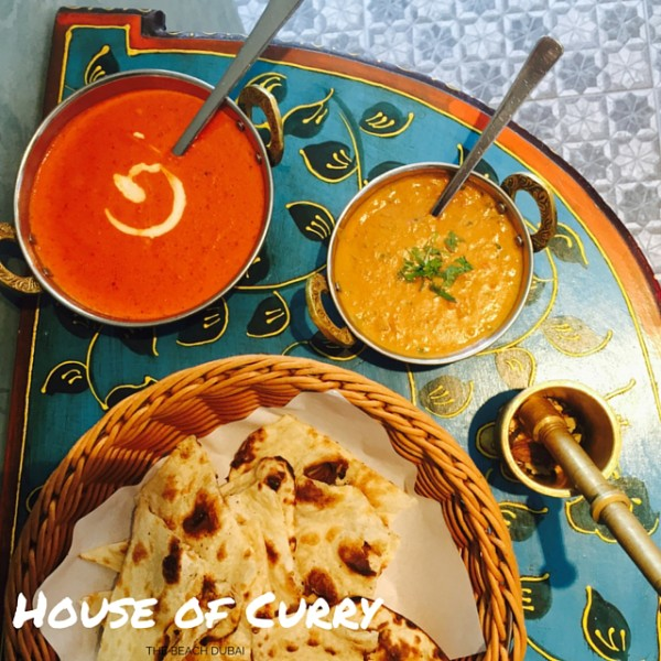 Indian Curries and naan at The House of Curry
