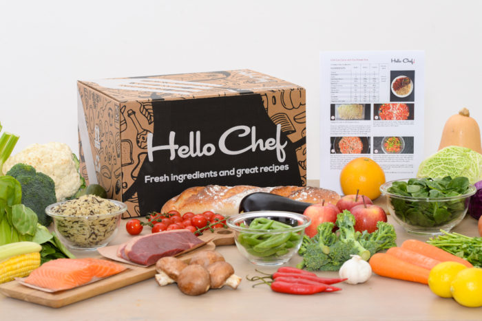 HelloChef! MealPlan with recipes and ingredients delivered home